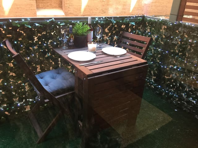 Patio for intimate dining