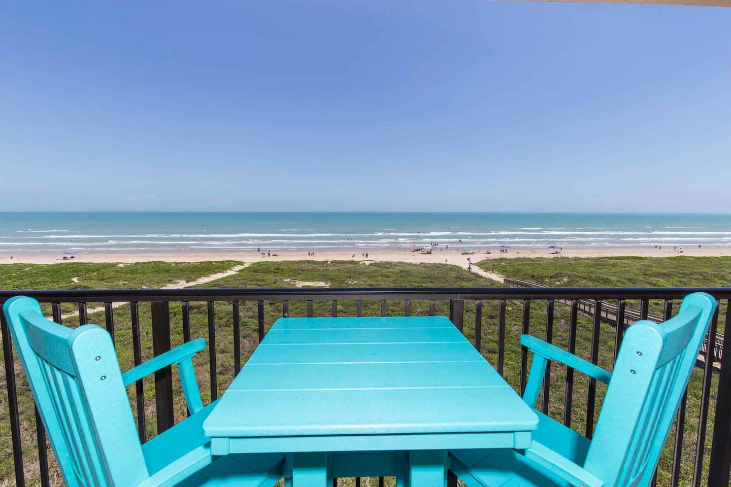 Watch the waves roll in as you enjoy the beautiful beachfront view!