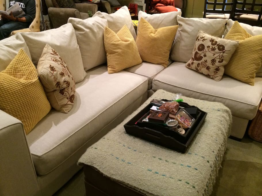 Comfy couch in the living room