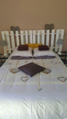 Chambre  privé  à la ferme ptit dej nuit au calme - beaumont   - Huis