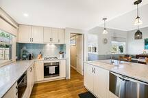 Spacious kitchen and pantry