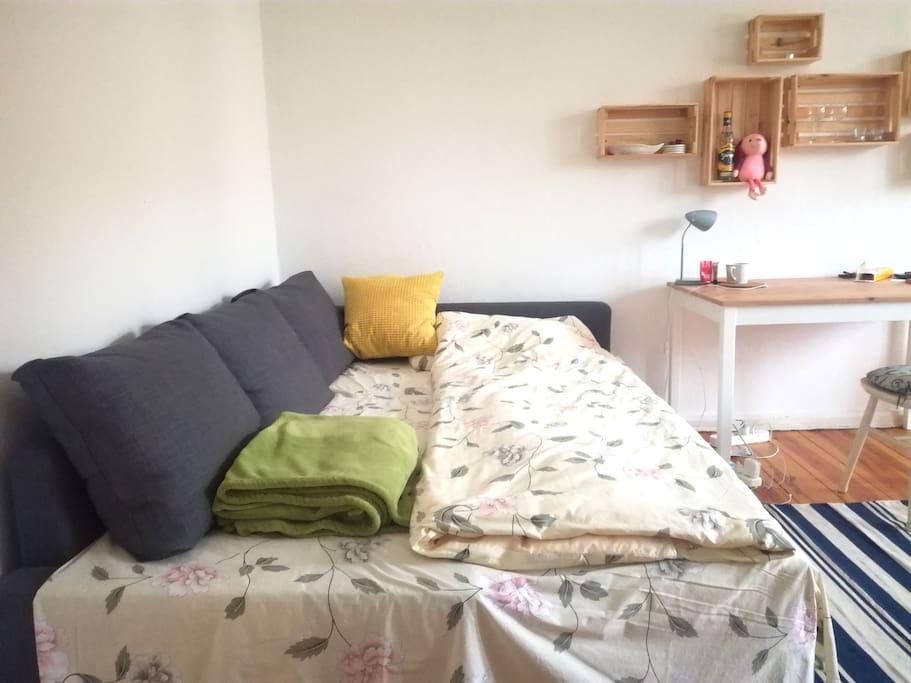Bedsofa opened 01