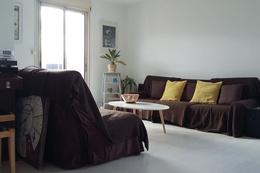 Living-room with projector (2X1m screen), wifi, video games, movies, tv