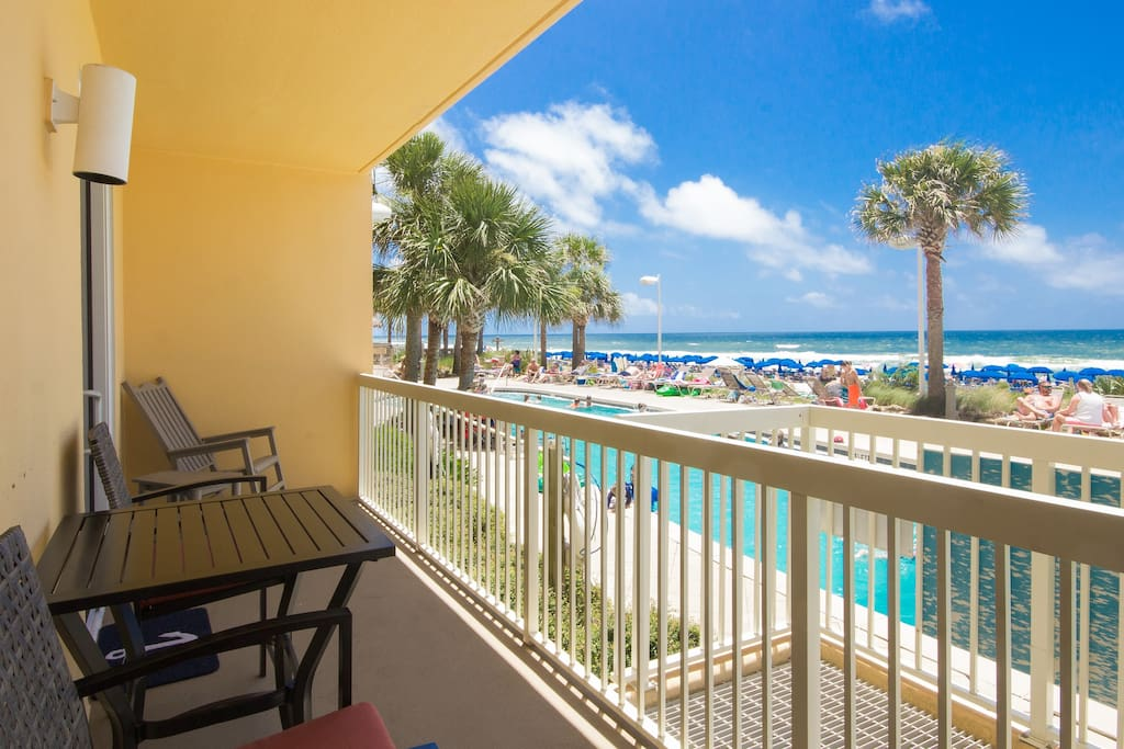 Breathtaking views of the Gulf of Mexico and the resort pool