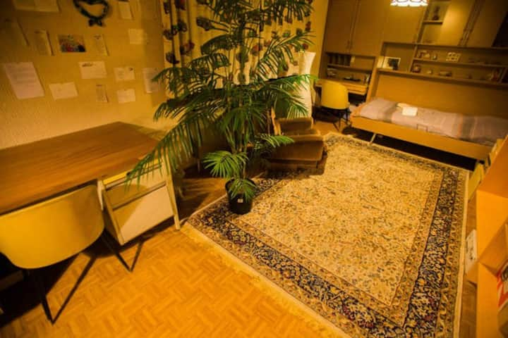 Private room/office desk in villa*15min to airport