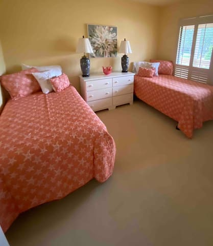Second bedroom with two twins, or can be pushed together for a full.