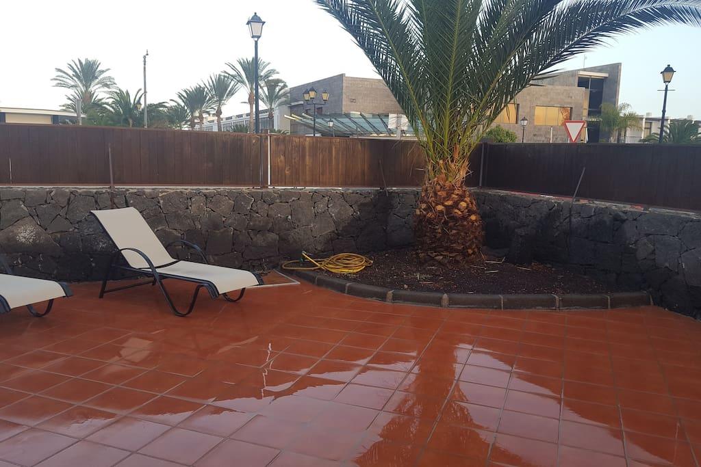 Zona exterior piscina privada
