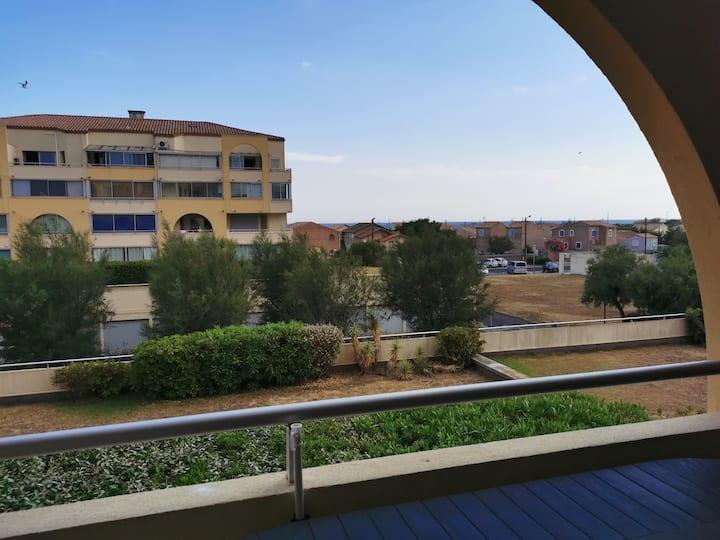 Appartement avec balcon à Frontignan proche plage