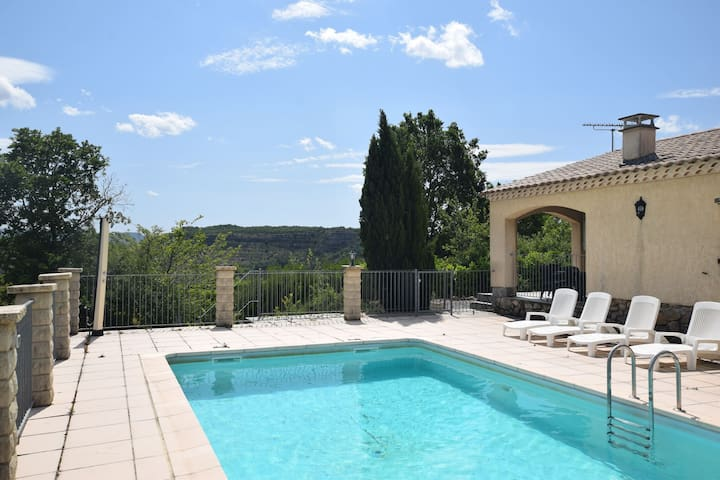 Peaceful Holiday Home in Les Vans, Ardeche with Pool