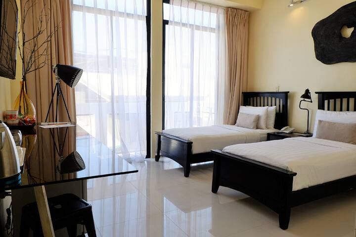 Twin Room with Balcony near the Beach