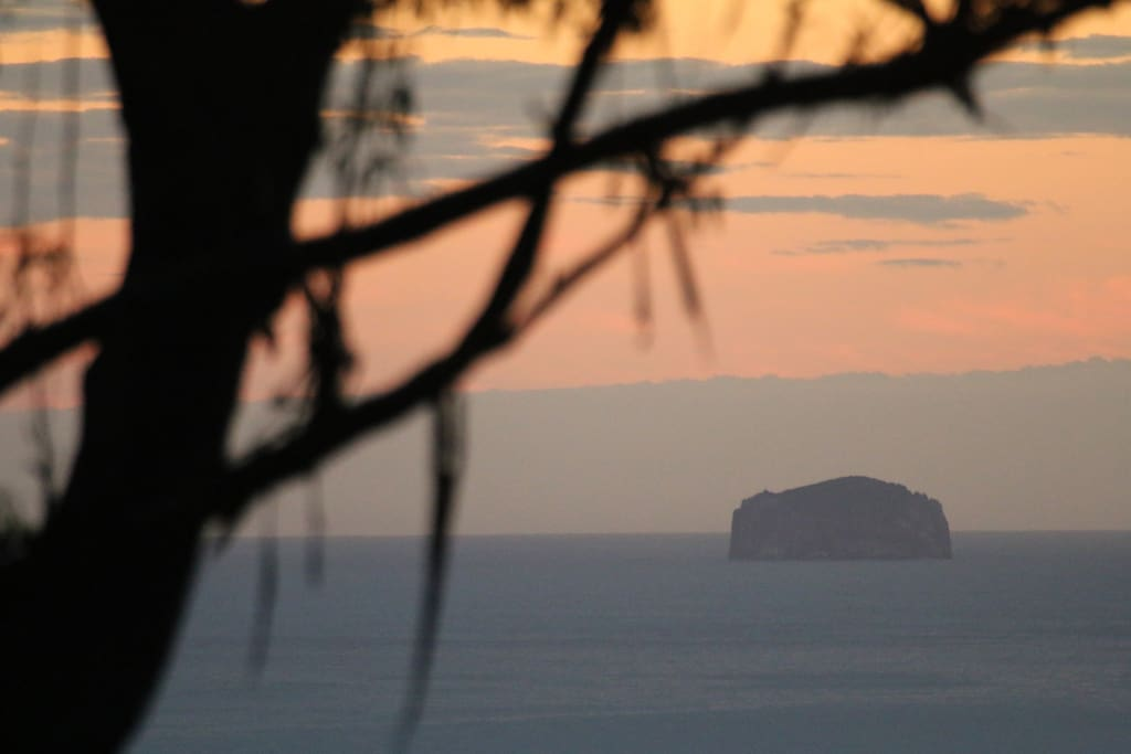 Sunrise from the top balcony overlooking Hippolyte rocks