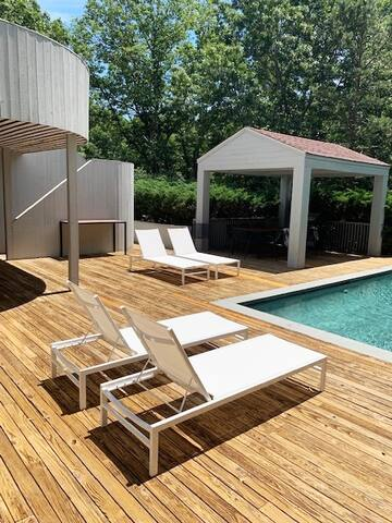Secluded Paradise with Tennis and Gunite salt pool