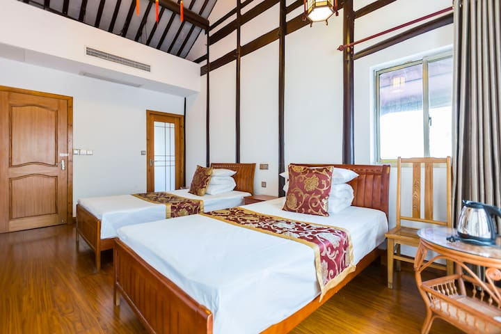 周庄景区内贞固弄客栈-沿河露台精品两室房(可加床) - Suzhou - Guesthouse