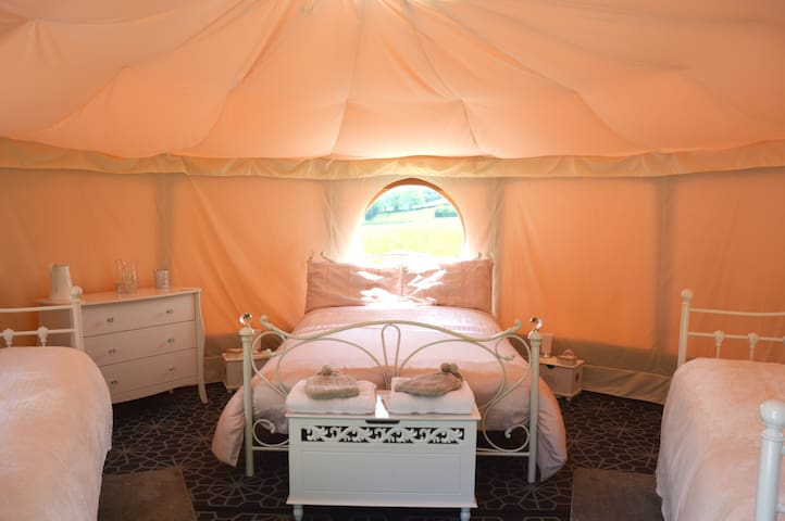 Meadowsweet Glamping with own hot tub.