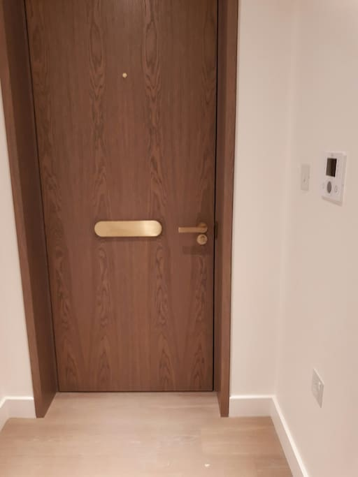 Front door to the flat and entryphone system