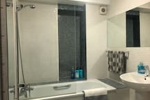Pamper yourself in this modern and clean bathroom.  Fully tiled bathroom with power shower.