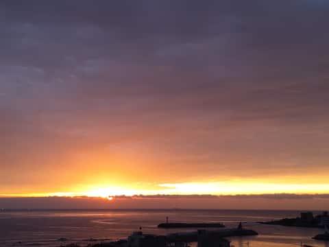 오션뷰+일출 전망 안락한 숙소 출장,여행 Ocean + Sunrise View