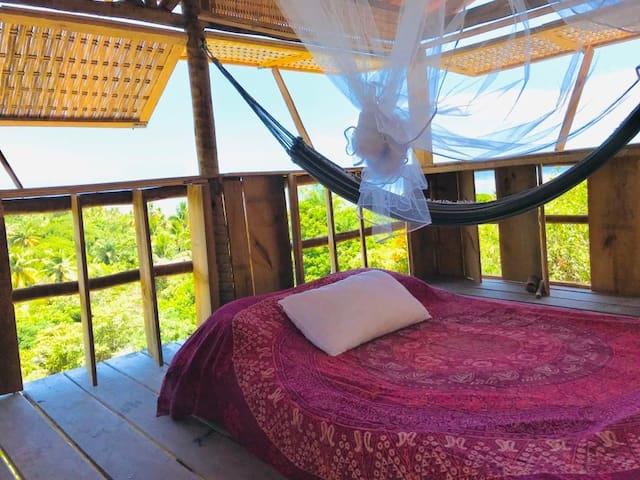 Moreré - Cova do Galo - Cabana de madeira c vista