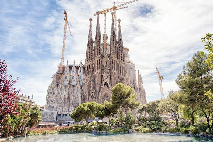 Sagrada Familia is next to