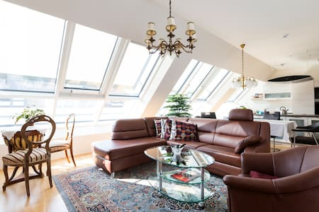 Big penthouse with terrasse and view - Wien - Loft