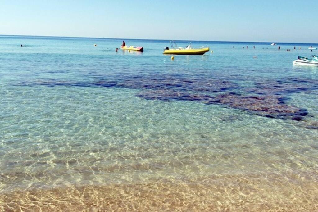 Lido Marini, acqua cristallina