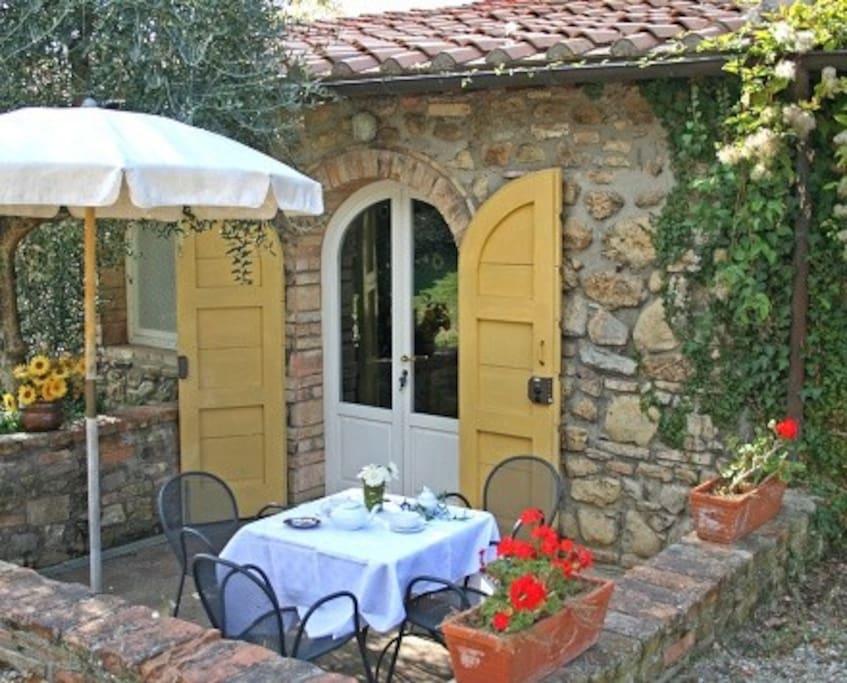 Private terrace Porcilaia