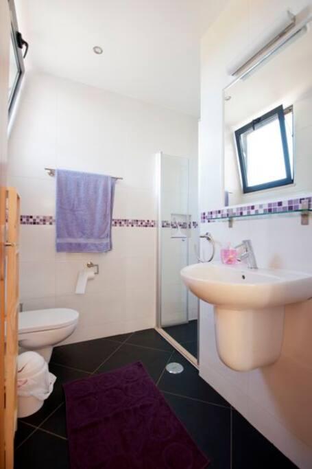 De badkamer van kamer Lavanda