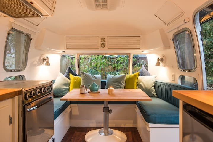 Airstream Island Retreat: Unique, Bright & Central