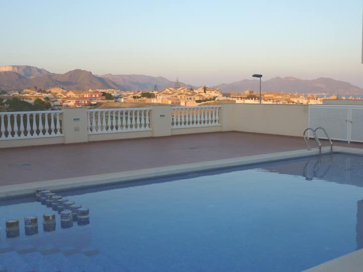 3 Bed House Sea views Nr Beach Pool AirCon WiFi...