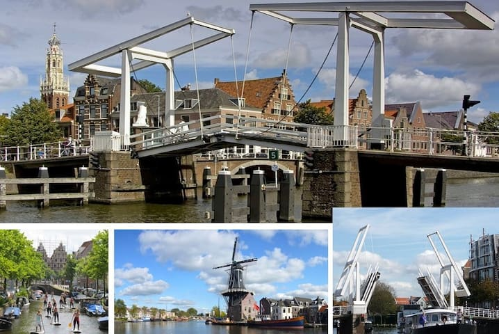 Haarlem city centre is only 9km from the cottage. It's rewarded as the BEST SHOPPING CITY of Holland, but also worth while to wander around its narrow streets, alleyways and canals. Don't forget to visit windmill 'De Adriaan' at the river Spaarne for coffee and...