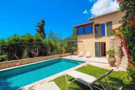 Villa con piscina ☼ BBQ, vistas al mar, wifi - Palma