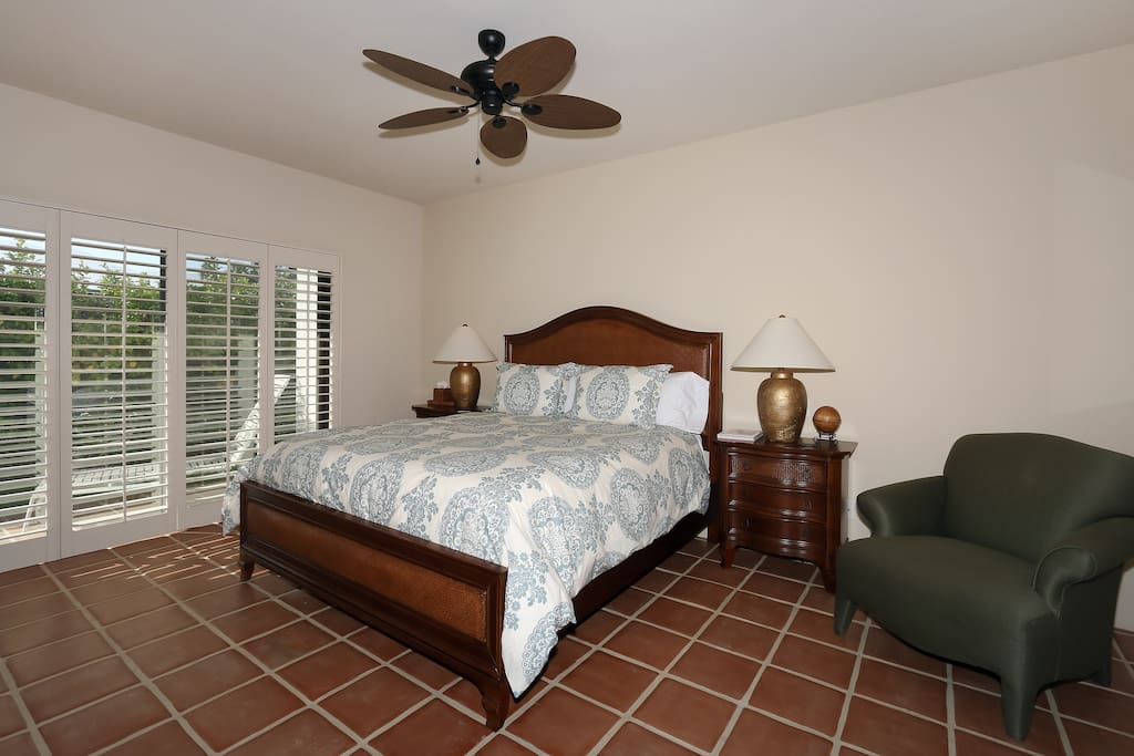 Master Bedroom with new furniture and Cal King mattress