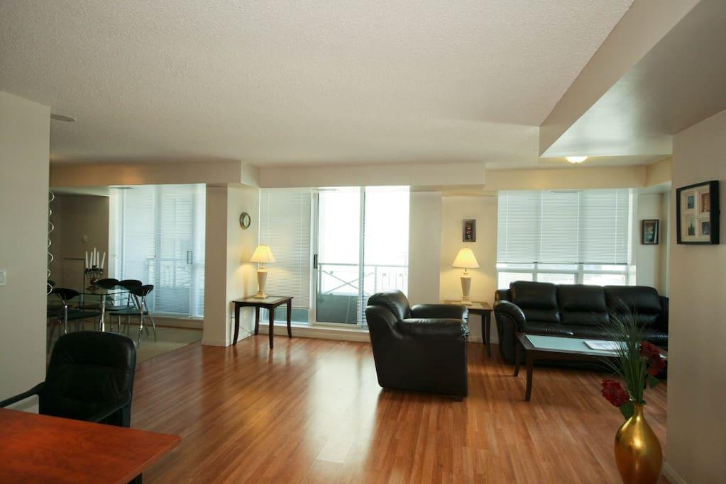 Livingroom of a 2 bedroom unit