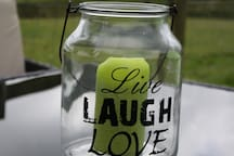 Live, laugh and Love a great motto for life