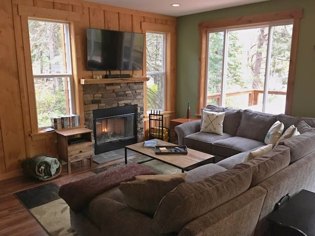 Enjoy the cozy living room and a movie or game night