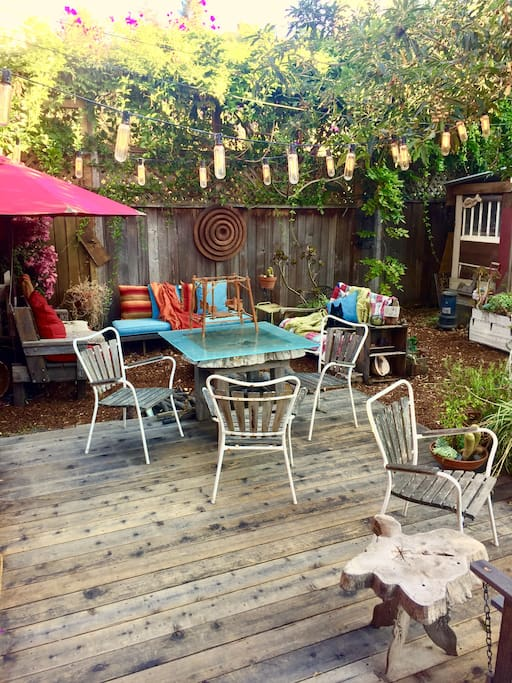 the deck off of the dining room