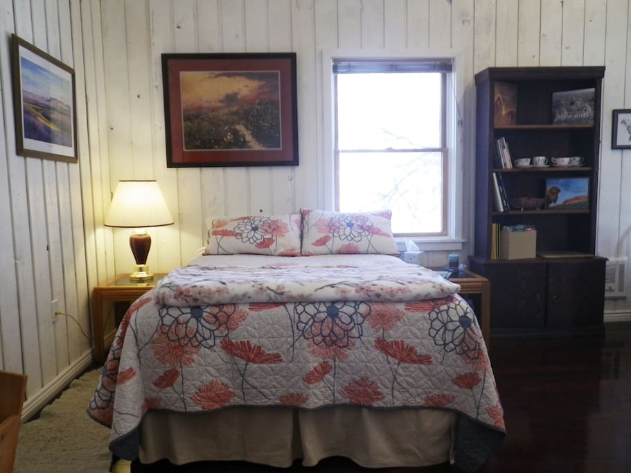 Full size bed (upstairs bedroom)