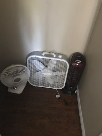 Portable fans and heaters