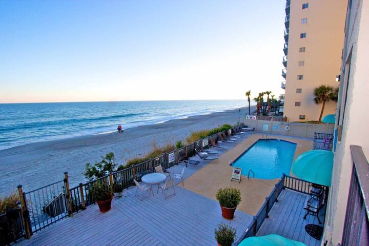 Oceanfront First Floor 2BR w/Elevator, Don't Like Heights?  This One is For You! - Garden City - Condominium
