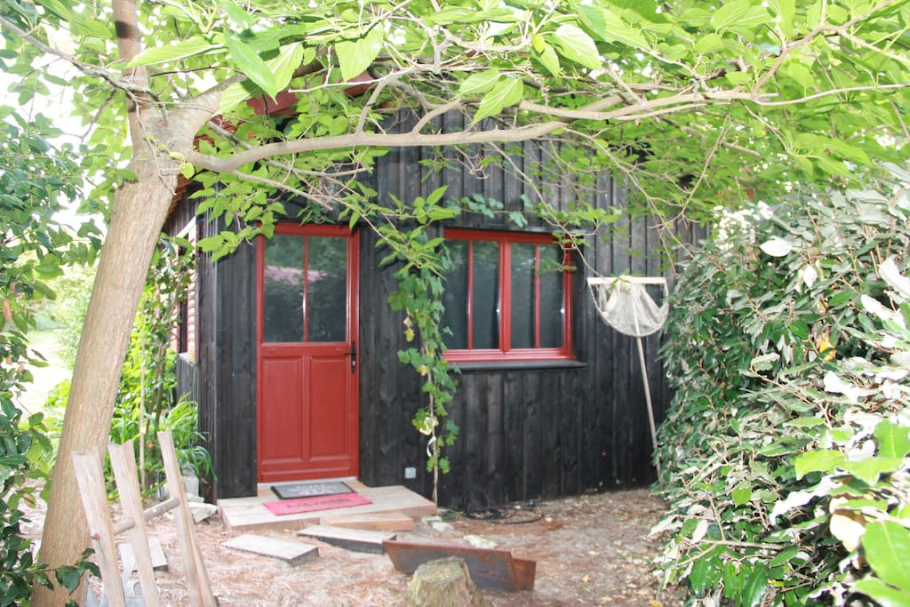 cap ferret chamb cabane cabins for rent in l ge cap ferret aquitaine france. Black Bedroom Furniture Sets. Home Design Ideas