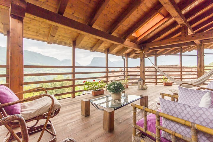 Panoramic Suite in Charming Chalet- Dolomites