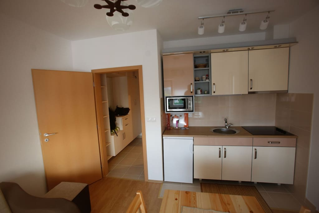 Kitchen in living room