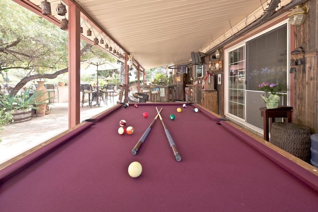 Shaggy Dog Saloon Patio Pool Table