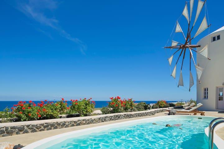 Lilac Windmill Villa - Thira - Villa