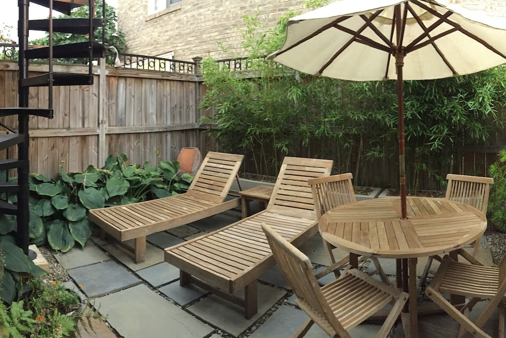 Patio oasis (shared with tenant above)
