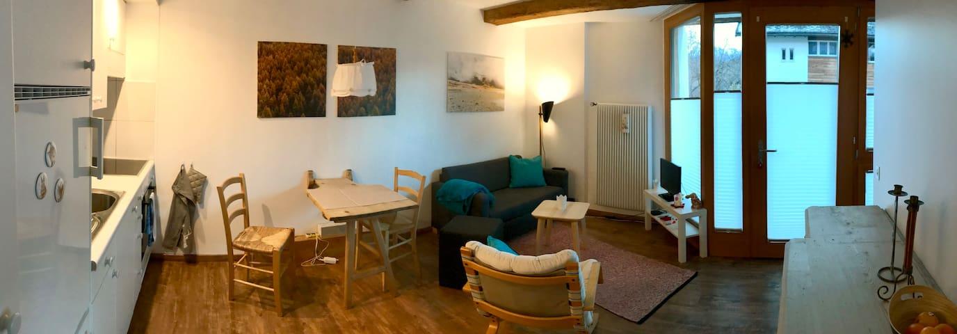 Ess- und Wohnbereich, inkl. kleinem TV