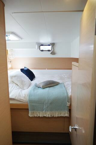 The luxury cabin.