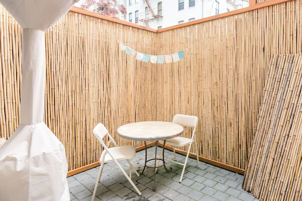 Guest patio. Accessible directly from guest room.