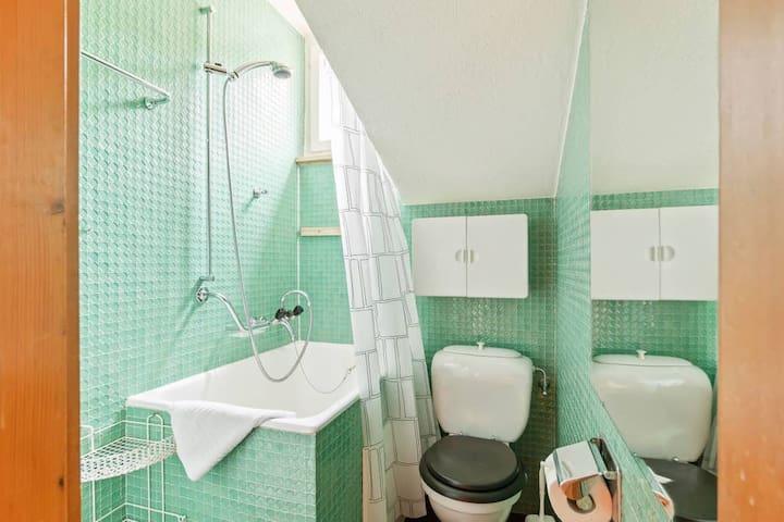 The 1° Bathroom with the bathtub