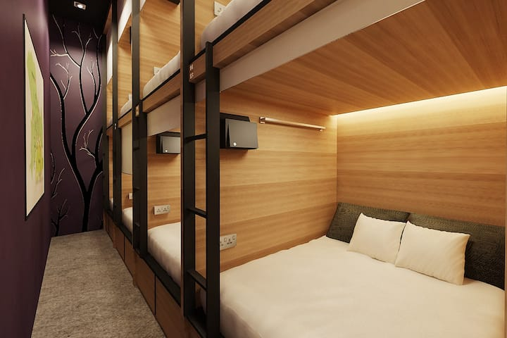 4 Double Dormitory Private Room Share Bathroom